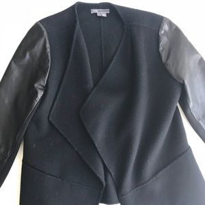 Vince wool and leather blazer